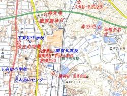大谷洞 仏どじょう地図
